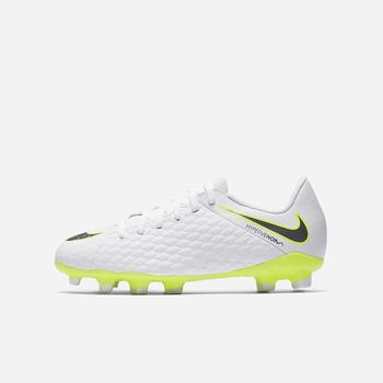 Nike Jr. Hypervenom Phantom III Academy Just Do It FG - Beyaz