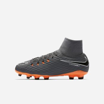 Nike Jr. Hypervenom Phantom III Academy Dynamic Fit Just Do It FG - Koyu Gri
