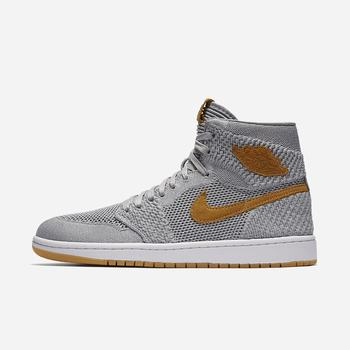 Nike Air Jordan 1 Retro High Flyknit - Gri